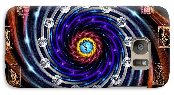 Celtic Tarot Moon Cycle Zodiac Galaxy S7 Case