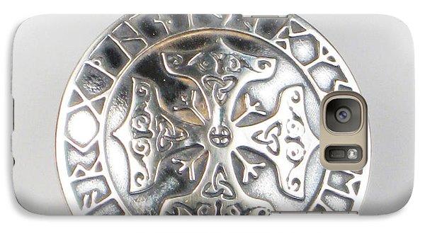 Galaxy Case featuring the jewelry Celtic Viking Cross Rune Calendar by Vagabond Folk Art - Virginia Vivier