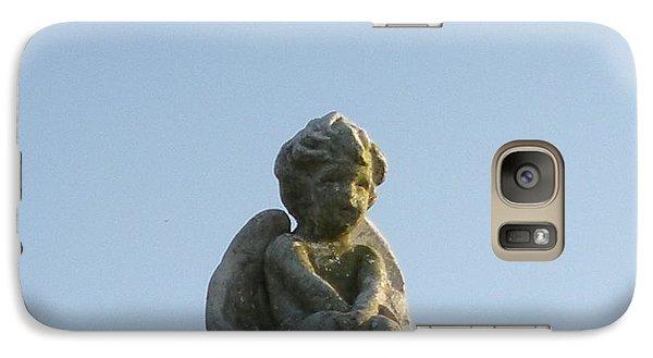 Galaxy Case featuring the photograph Cemetery Cherub by Joseph Baril