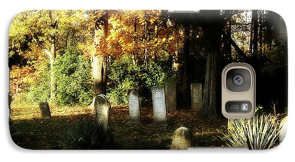 Galaxy Case featuring the photograph Cemetery In The Morning by Cynthia Lassiter