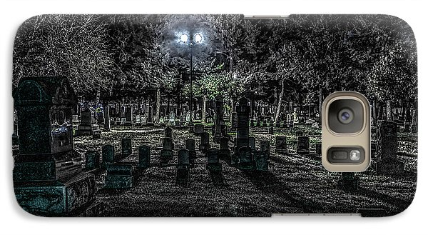 Galaxy Case featuring the photograph Cemetery  by Ray Congrove
