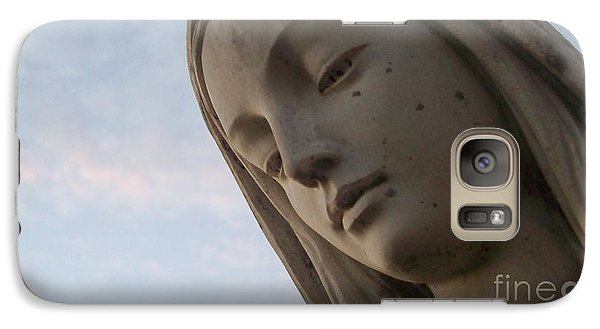 Galaxy Case featuring the photograph Cemetery Statue by Justin Moore
