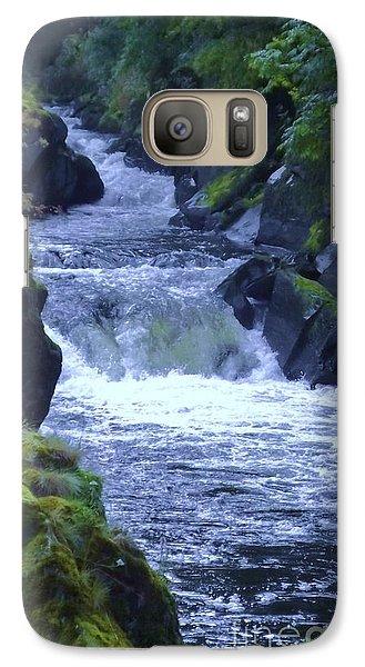 Galaxy Case featuring the photograph Cenarth Falls by John Williams