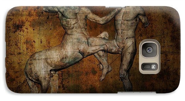 Centaur Vs Lapith Warrior Galaxy Case by Daniel Hagerman
