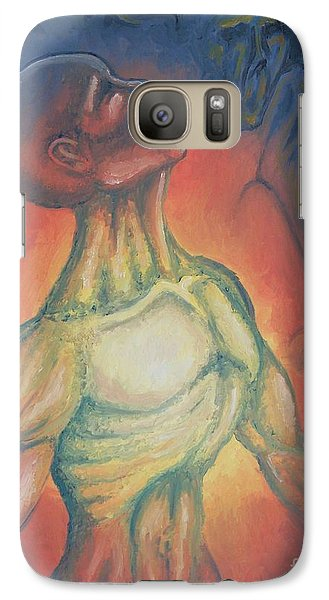 Galaxy Case featuring the painting Center Flow by Michael  TMAD Finney