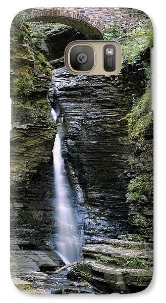 Galaxy Case featuring the photograph Central Cascade Waterfall by Gene Walls