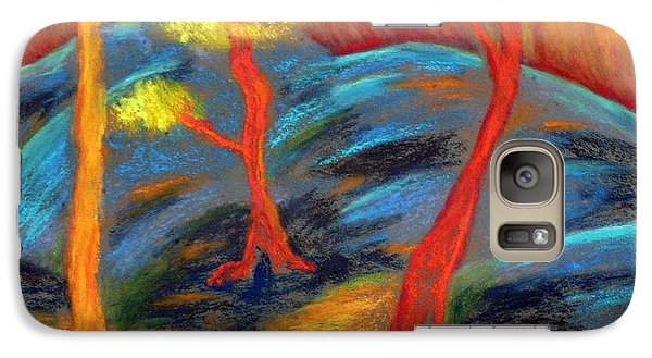 Galaxy Case featuring the pastel Central Park Allegro by Elizabeth Fontaine-Barr