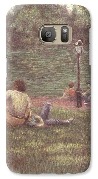 Galaxy Case featuring the painting Central Park Nyc by Walter Casaravilla