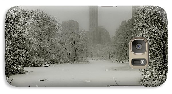 Galaxy Case featuring the photograph Central Park Snowstorm by Chris Lord