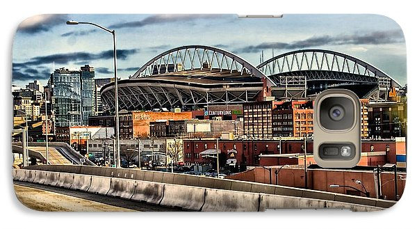 Galaxy Case featuring the photograph Century Link Field Seattle Washington by Michael Rogers