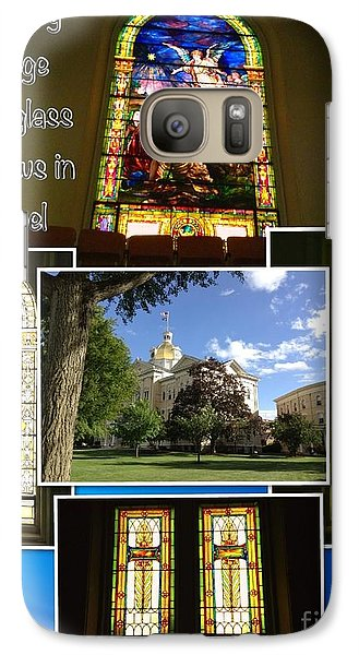 Galaxy Case featuring the photograph Cetenary College Stained Glass Windows In Chapel by Becky Lupe