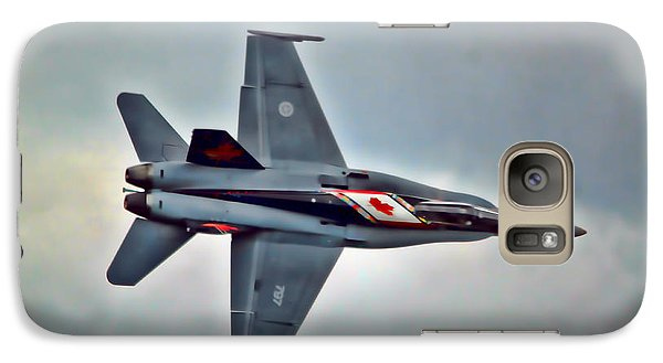 Galaxy Case featuring the photograph Cf18 Hornet Topview Flying by Cathy  Beharriell