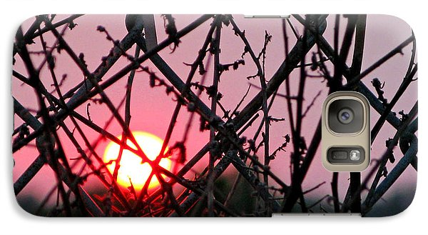 Galaxy Case featuring the photograph Chain Link Sunset by Jennie Breeze