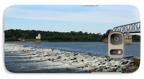 Galaxy Case featuring the photograph Chain Of Rocks On The Mississippi by John Freidenberg