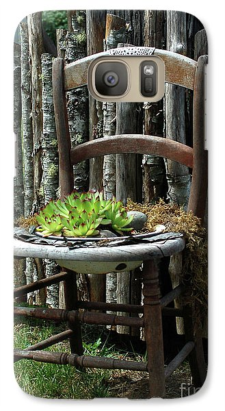Galaxy Case featuring the photograph Chair Planter by Ron Roberts