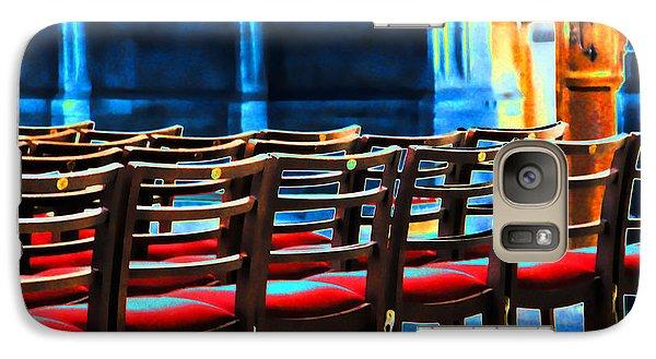 Galaxy Case featuring the photograph Chairs In Church by Oscar Alvarez Jr