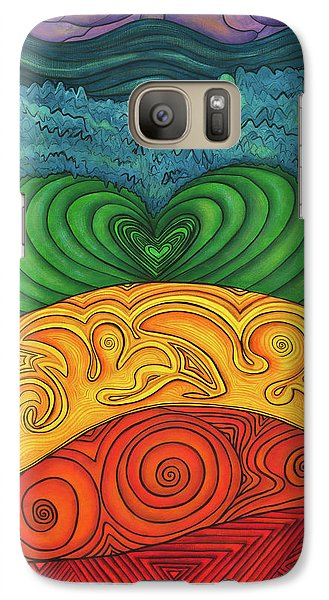 Galaxy Case featuring the painting Chakra Ascension by Deborha Kerr