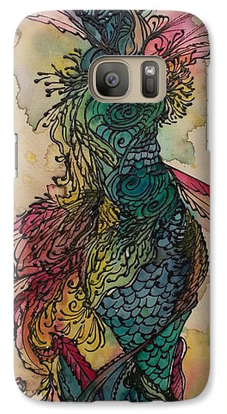 Galaxy Case featuring the painting Chakra Mermaid by Christy  Freeman