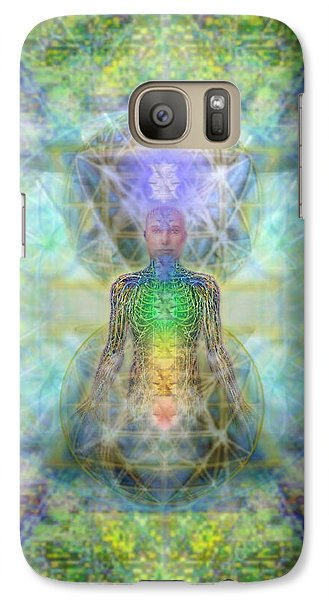 Galaxy Case featuring the digital art Chakra Tree Anatomy In Chalice Garden by Christopher Pringer