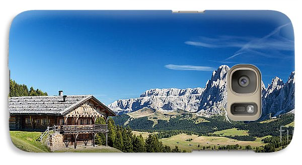 Galaxy Case featuring the photograph Chalet In South Tyrol by Carsten Reisinger