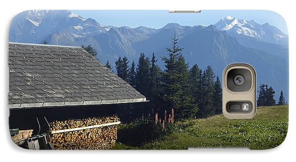 Chalet In The Swiss Alps Bettmeralp Switzerland Galaxy S7 Case by Matthias Hauser