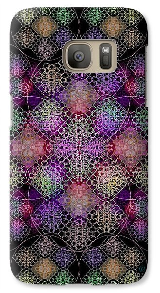 Galaxy Case featuring the digital art Chalice Cell Rings On Black Dk29 by Christopher Pringer