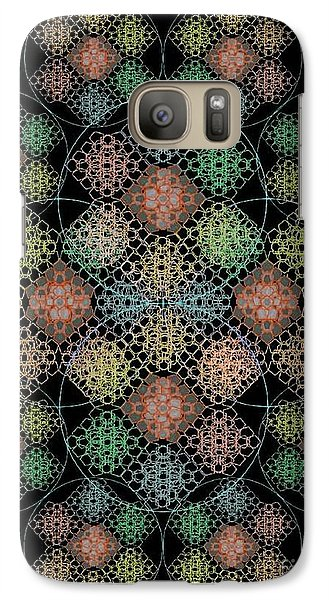 Galaxy Case featuring the digital art Chalice Cell Rings On Black Lt33 by Christopher Pringer