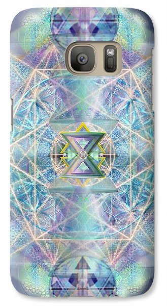 Galaxy Case featuring the digital art Chalicells Electric Sparkling Vortices Of Light II by Christopher Pringer