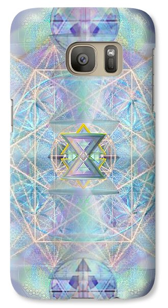 Galaxy Case featuring the digital art Chalicells Electro Dynamic Vortices Of Light by Christopher Pringer