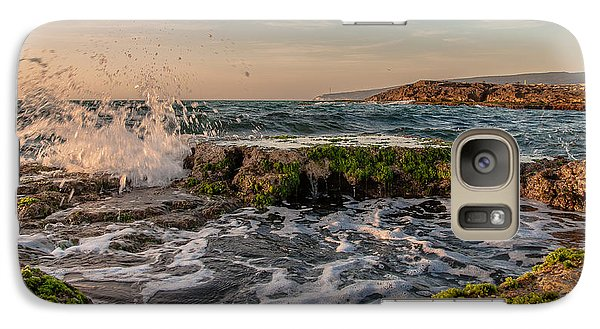 Galaxy Case featuring the photograph Champagne Splashes by Sergey Simanovsky