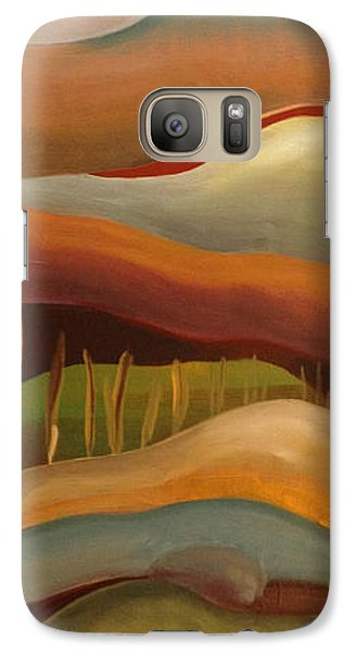 Galaxy Case featuring the painting Champignons Landscape 3 In Work by Art Ina Pavelescu