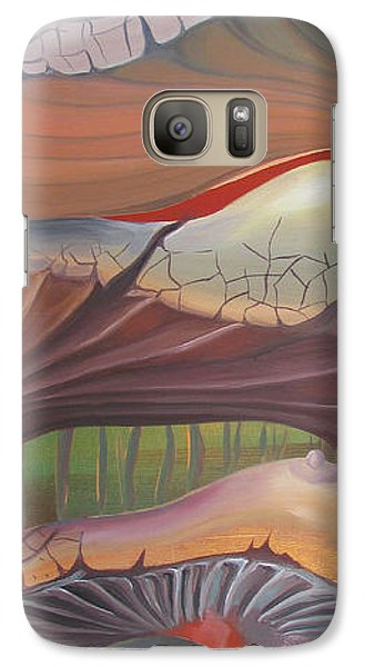 Galaxy Case featuring the painting Champignons Landscape by Art Ina Pavelescu