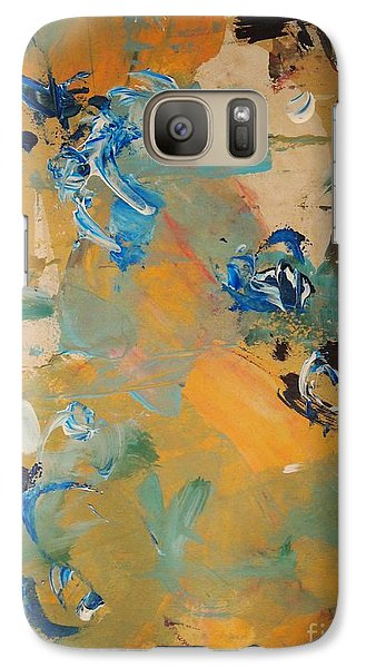 Galaxy Case featuring the painting Chance Meeting by Nancy Kane Chapman