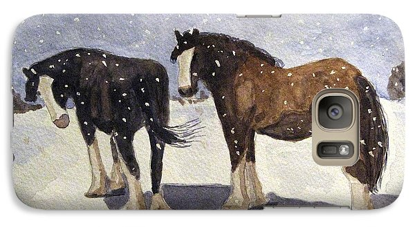 Galaxy Case featuring the painting Chance Of Flurries by Angela Davies