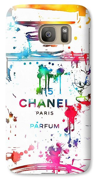 Chanel Number Five Paint Splatter Galaxy Case by Dan Sproul