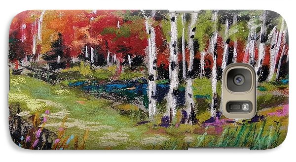 Galaxy Case featuring the painting Changing Birches by John Williams