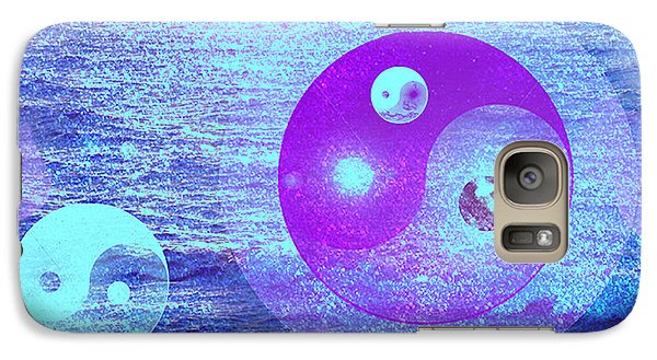 Galaxy Case featuring the digital art Changing Currents Of Reality by Ute Posegga-Rudel