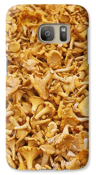 Chanterelle Mushroom Galaxy Case by Anonymous
