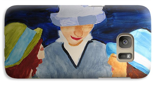Galaxy Case featuring the painting Chapeaux Trois by Sandy McIntire