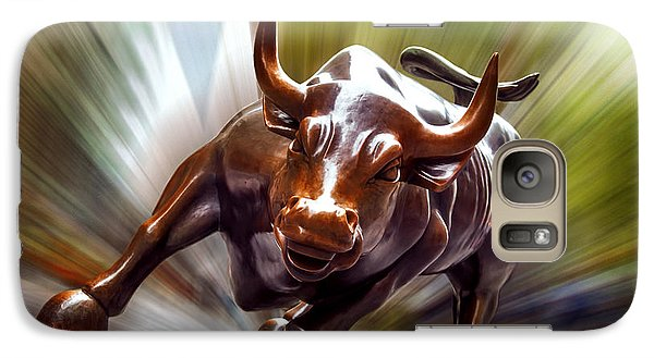 Bull Galaxy S7 Case - Charging Bull by Az Jackson