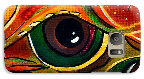Galaxy Case featuring the painting Charismatic Spirit Eye by Deborha Kerr