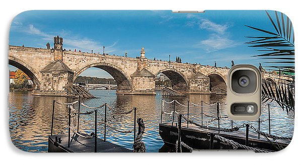 Galaxy Case featuring the photograph Charles Bridge by Sergey Simanovsky