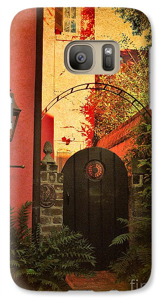 Galaxy Case featuring the photograph Charleston Garden Entrance by Kathy Baccari