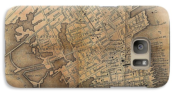 Galaxy Case featuring the painting Charleston Vintage Map No. I by James Christopher Hill