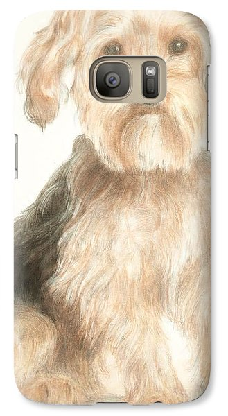 Galaxy Case featuring the drawing Charlie by Meagan  Visser