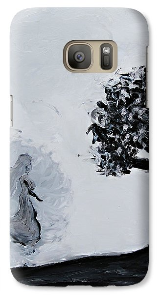 Galaxy Case featuring the painting Charlotte's Grave by Lola Connelly
