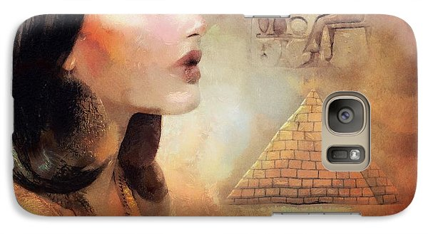 Galaxy Case featuring the painting Charm Of Egypt by Wayne Pascall