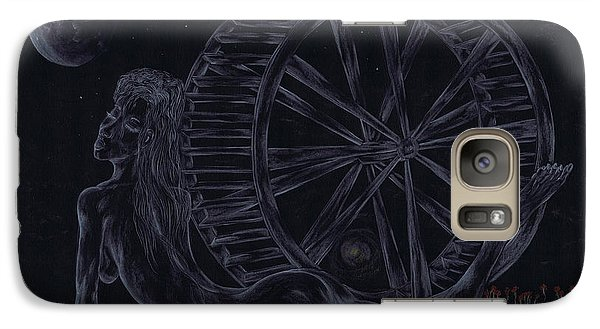 Galaxy Case featuring the drawing Charm Of The Moon. by Kenneth Clarke