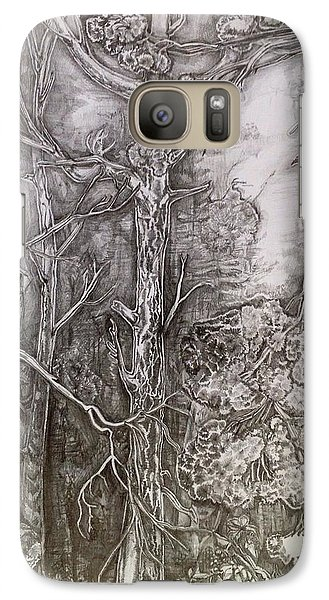 Galaxy Case featuring the drawing Charmed Forest by Iya Carson