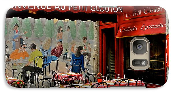 Galaxy Case featuring the photograph Charming French Outdoor Cafe by Kirsten Giving
